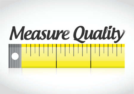 good investment: measure quality illustration design over a white background Illustration