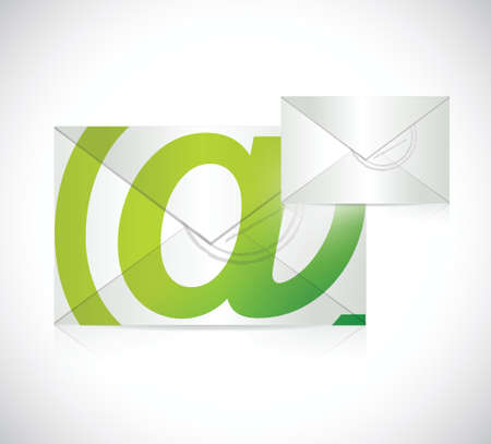 contact us envelope illustration design over a white background Vector