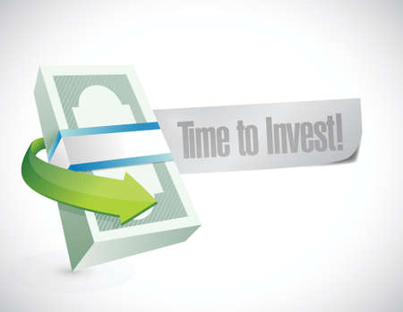 money time: money time to invest message illustration over a white background Illustration