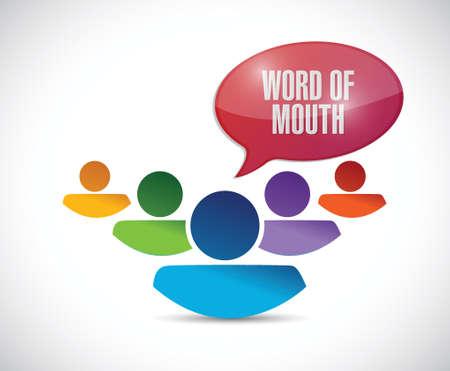 le bouche à oreille équipe message Illustration sur un fond blanc Illustration