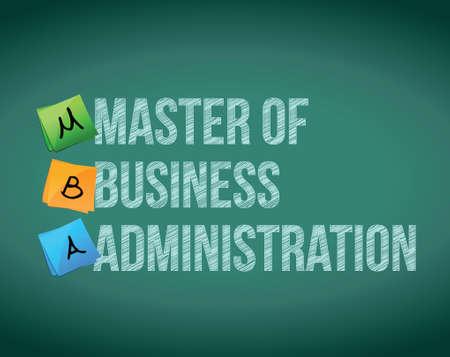 administracion empresarial: maestro de la ilustraci�n mensaje de administraci�n de negocios en un fondo blanco