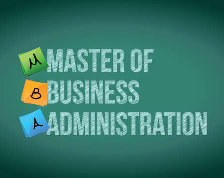 business administration: master of business administration message illustration over a white background Stock Photo