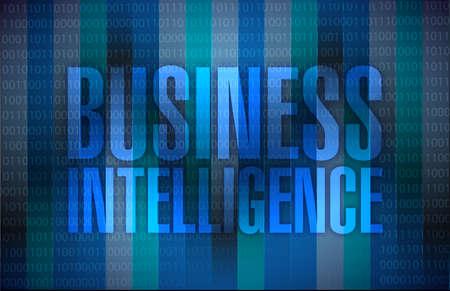 business intelligence message illustration design over a binary background