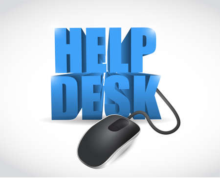 online help desk sign illustration design over a white background illustration