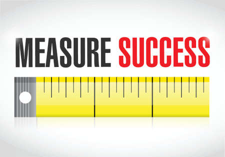 measurement tape: measure success illustration over a white background Stock Photo