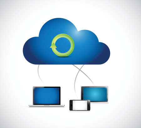 working cloud computing network illustration design over a white background Stock Vector - 24681108