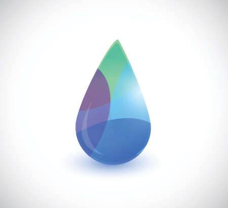colorful water drop illustration design over a white background Vector