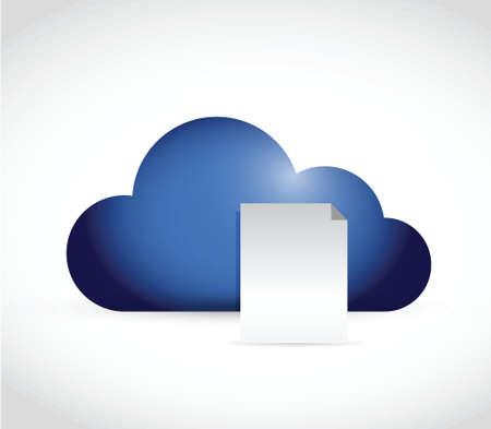 cloud paper illustration design over a white background