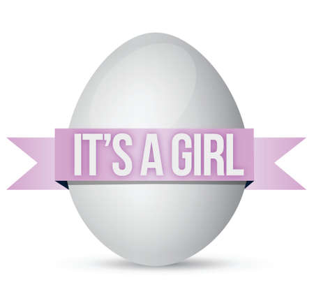 its a girl: its a girl egg illustration design over a white background Illustration