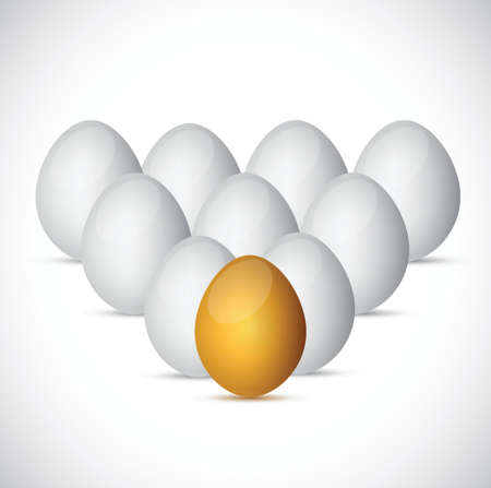 reflection of life: set of eggs illustration design over a white background Illustration