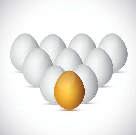 set of eggs illustration design over a white background Stock Vector - 24928893