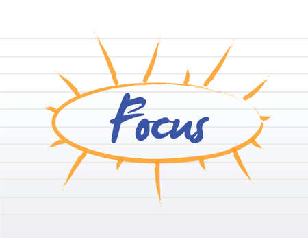 pore: focus model illustration design over a white background Illustration