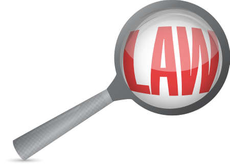 codified: law magnify glass illustration design over a white background