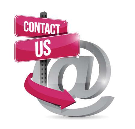 contact us online symbol illustration design over a black background