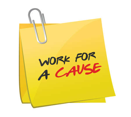 narcissism: work for a cause post illustration design over a white background