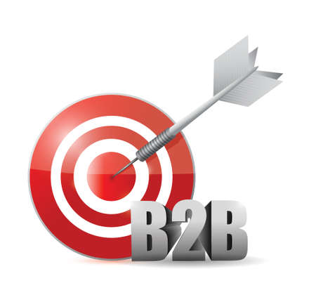 b2b target illustration design over a white background Vector