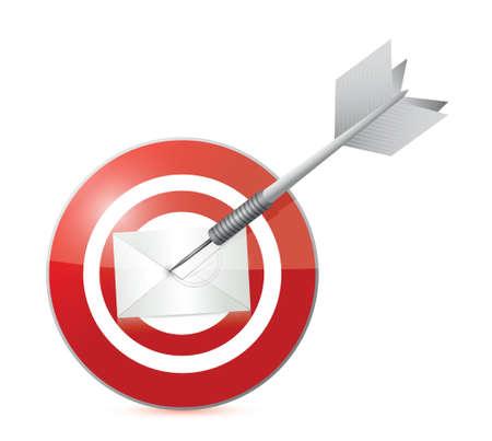 busines: target mail illustration design over a white
