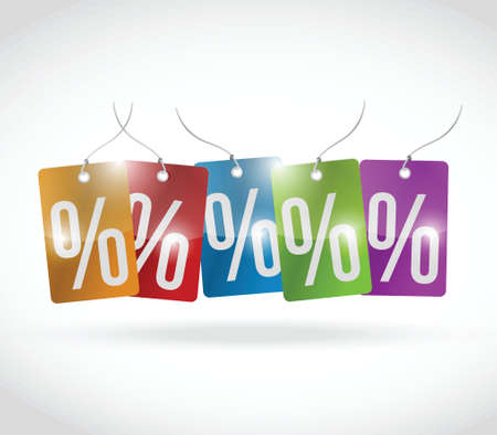 capitalismo: cores percentuais Tag ilustra