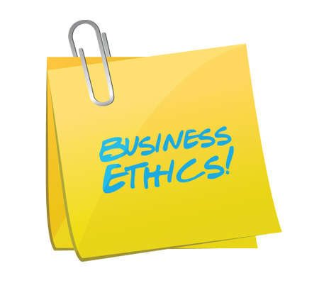 business ethics: business ethics post illustration design over a white