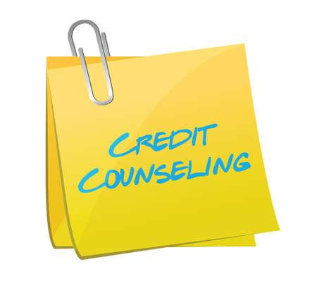 debtor: credit counseling post illustration design over a white  Illustration