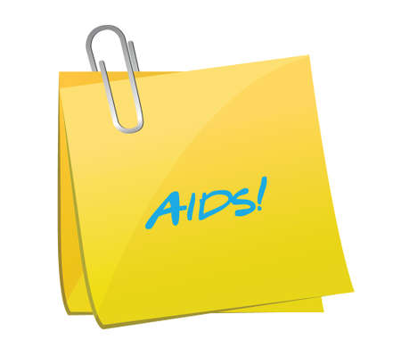 aids post illustration design over a white  Stock Vector - 25206760