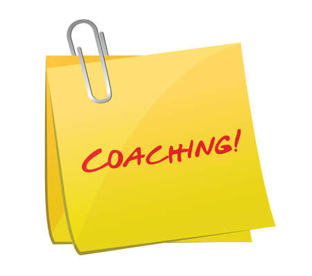 coaching post illustration design over a white Stock Vector - 25206799