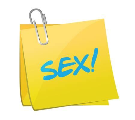 sex post illustration design over a white