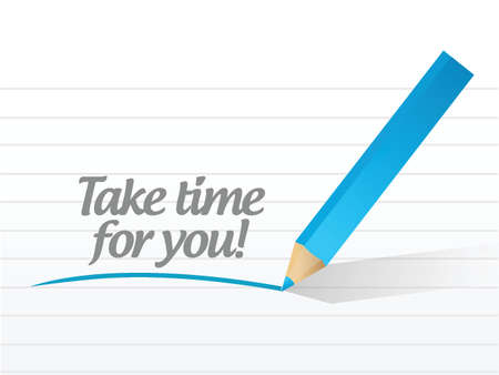 take time for you message illustration design over a white