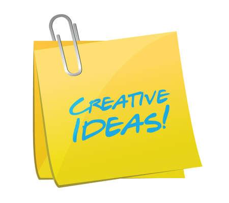 inventing: creative ideas post illustration design over a white  Illustration