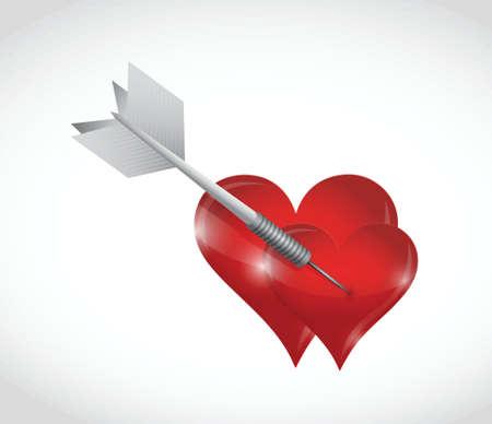 couple in love. dart concept illustration design over a white  Vector