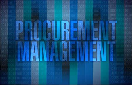 procurement management binary illustration design graphic background illustration
