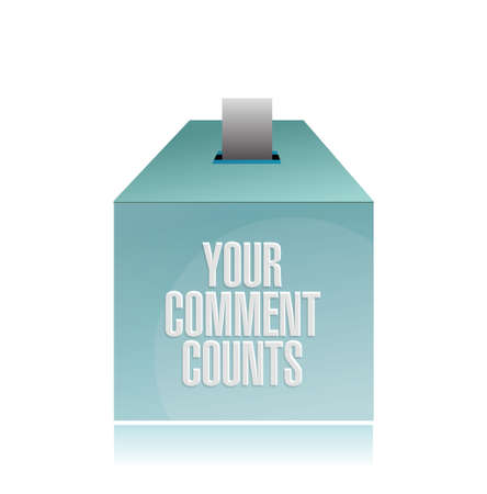 openness: your comment counts. suggestion box illustration design over a white background