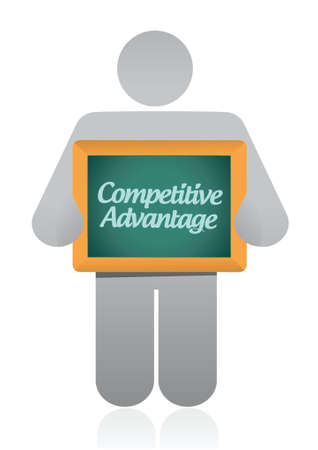 preference: competitive advantage message illustration design over a white background
