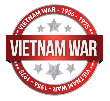 vietnam war: vietnam war commemoration seal illustration design over a white background