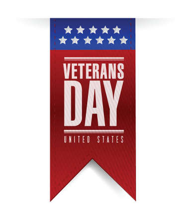 first day: veterans day banner illustration design over a white background