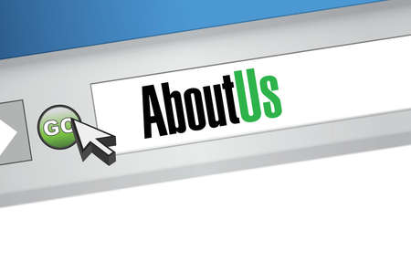 about us: about us browser illustration design artwork graphic