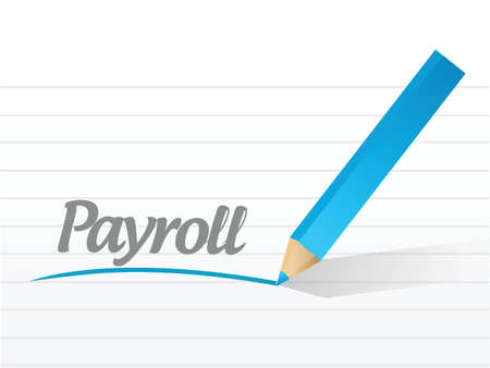 payroll message illustration design over a white background Vector