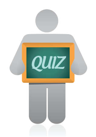 quiz message illustration design over a white background Stock Illustratie