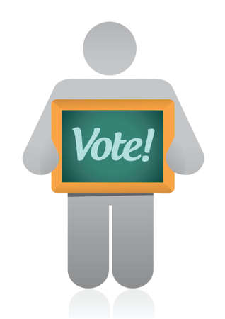 vote message illustration design over a white background Vector
