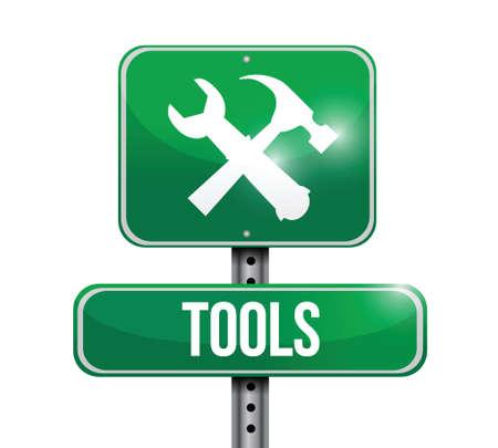 tools street sign illustration design over a white background Illustration