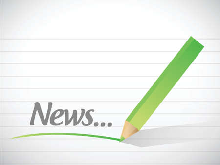 type writer: news message illustration design over a white background