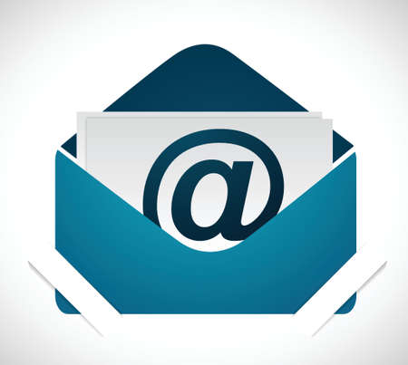 email inside holders. illustration design over a white background Vector