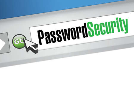 password security sign browser illustration design graphic Vector