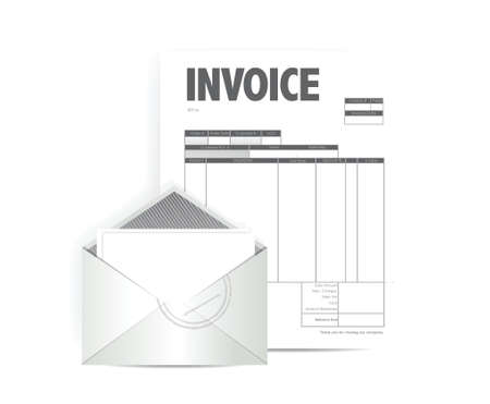 invoice illustration design over a white background Stock Vector - 25497416