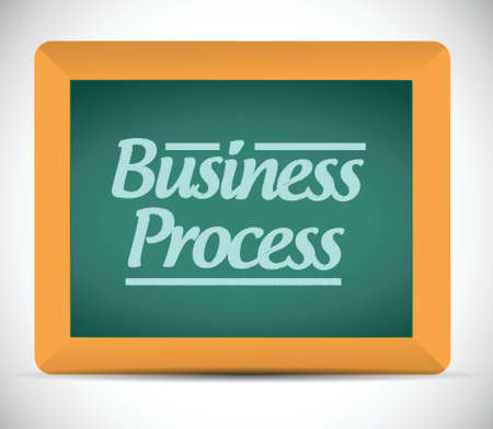 business process on a chalkboard. illustration design over a white background Vector