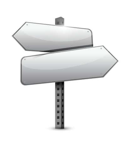 blank sign illustration design over a white background