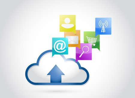 cloud applications concept illustration design over a white background illustration