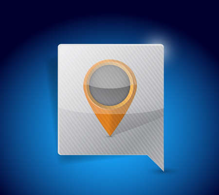 pointer and locator icon illustration design over a blue background illustration
