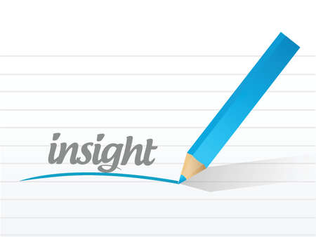 insight: insight message illustration design over a white background Illustration