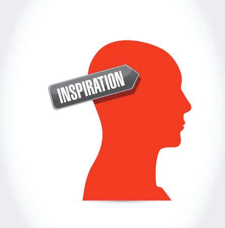 hoofd inspiratie illustratie ontwerp op een witte achtergrond